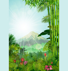 mountains landscape of tropical background vector image