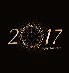 New year clock 2017 vector