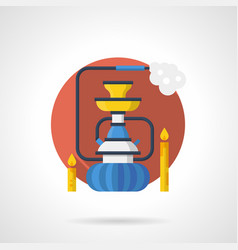 night shisha color detailed icon vector image vector image