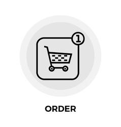 Order line icon vector