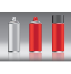 red spray can vector image
