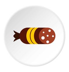 Salami icon flat style vector