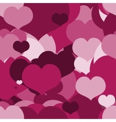 Seamless Pink pattern for a Valentine Day vector image vector image
