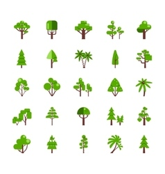 Tree Set Collection vector image vector image