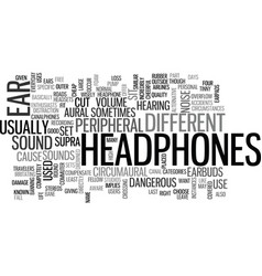 Which headphones are right for you text word vector