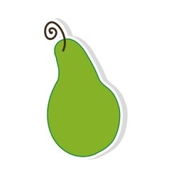Green pear fruit vector