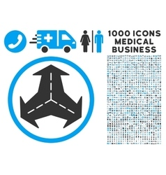 Intersection directions icon with 1000 medical vector