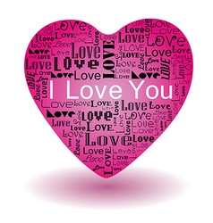 fill loveP vector image