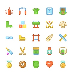 Sports colored icons 5 vector