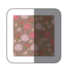 sticker pattern roses and butterflies design vector image