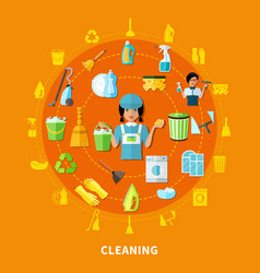 Cleaning tools round composition vector