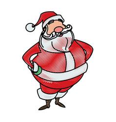 drawing santa claus christmas character style vector image