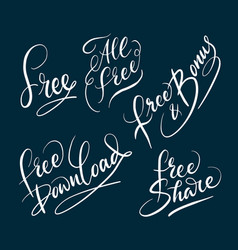 All free and bonus hand written typography vector