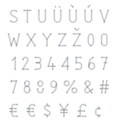Blurred typeset vector