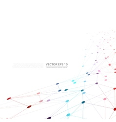 Network background abstract polygon vector