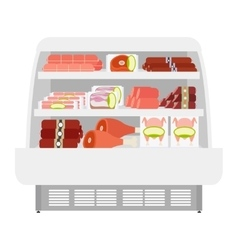 Meat products in store vector