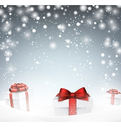 Christmas background with gift box vector image