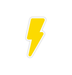 Icon sticker realistic design on paper lightning vector