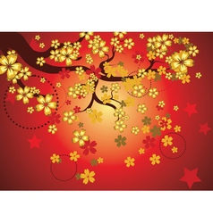 Decorative sakura background3 vector