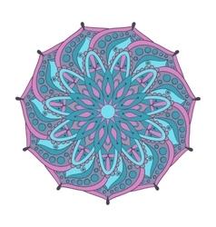 Zentangle stylized elegant color Indian Mandala vector image