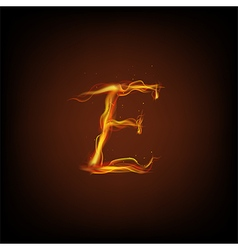 Alphabets flame vector