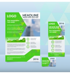 Bright green annual report vector