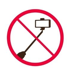 No selfie sticks do not use monopod prohibited vector