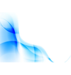Abstract blue wavy lines vibrant background vector image vector image
