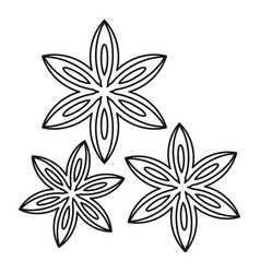 Anise icon outline style vector