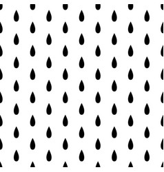 black rain drop seamless on white background vector image
