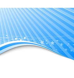 blue wave and ray vector image