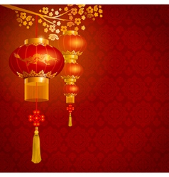 China lanterns vector image