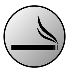 Cigarette button vector
