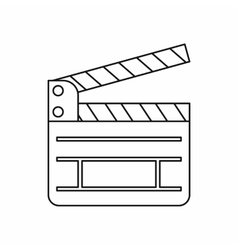 Clapboard icon in outline style vector