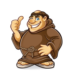 Fat monk vector