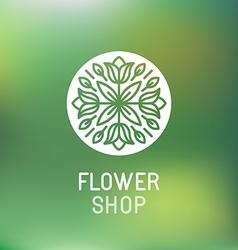 Florist emblem vector