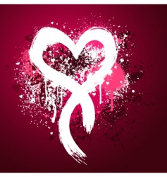 grunge heart design vector image