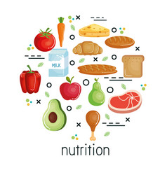 Healthy eating design vector