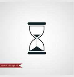 Hourglass icon simple vector