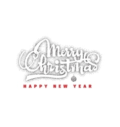 Merry christmas and happy new year 2017 hand vector image vector image
