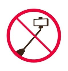 No selfie sticks Do not use monopod prohibited vector image