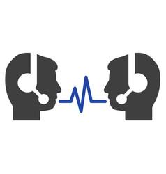 Operator dialog signal flat icon vector