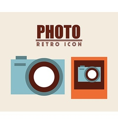 retro icon design vector image vector image