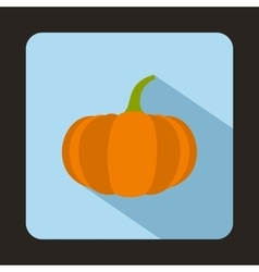 Ripe pumpkin icon in flat style vector image vector image