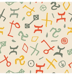 Seamless pattern with hand drawn shapes vector