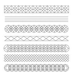 Set of line geometric hipster vintage design vector image
