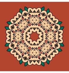 What is karma oriental mandala motif round lase vector