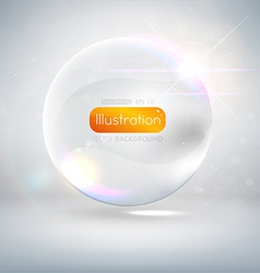 White Bubble Backdrop vector image