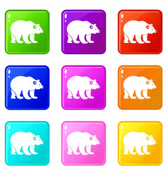 Bear set 9 vector