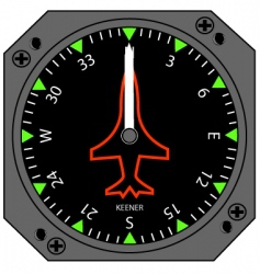airplane compass vector image